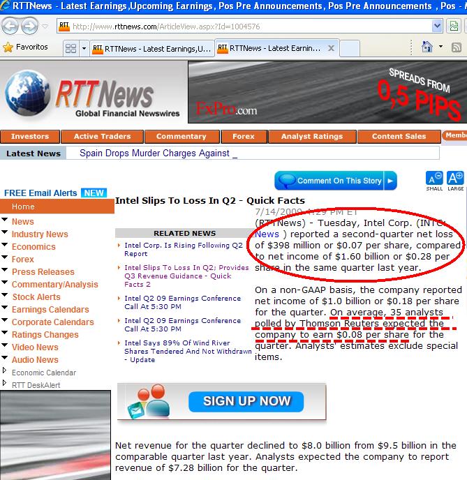 La noticia sale al mundo. Intel tiene perdidas.png